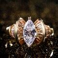 Huitan роскошный новый дизайн Свадебные обручальные кольца AAA кубический циркон креативные женские вечерние кольца для женщин ювелирные изде...
