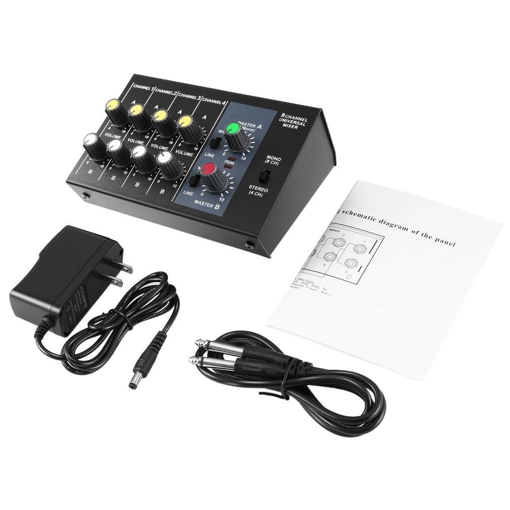 8 kanałowy cyfrowy konsola miksująca Karaoke uniwersalny mikser Mono/mikrofon stereofoniczny mikser regulacji Panel