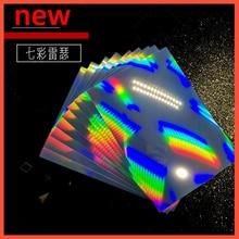 10 A4 Size Holographic Sheets Printable Vinyl Sticker Paper Waterproof Sticker Paper Vinyl Rainbow Sticker Paper for Inkjet Inkj