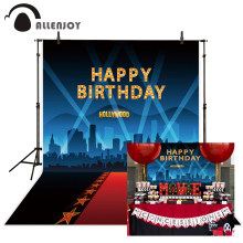 Allenjoy geburtstag foto kulissen Rot teppich für VIP event stern kino decor hollywood party hintergrund photo fotografie(China)