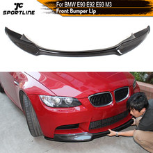 De fibra de carbono/de FRP parachoques delantero labio Spoiler divisores para BMW E90 E92 E93 M3 sedán coupé Cabriolet descapotable de 2007 - 2013