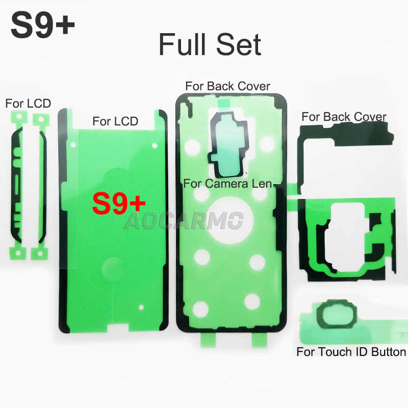 LCD Display Screen Back Battery Cover Camera Lens Waterproof Adhesive Sticker Tape Glue For Samsung Galaxy S9+ SM G9650 S9Plus