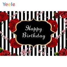 Flower Stripe Rose Backdrop Floral Newborn Baby Shower Children Birthday Party Photography Background Photo Studio Photophone