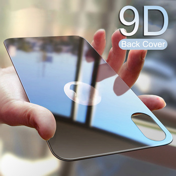 9D Protective Back Tempered Glass For iPhone X XS MAX XR 12 11 Pro MAX 7 8 Plus Full Cover Screen Protector Film Black White 1