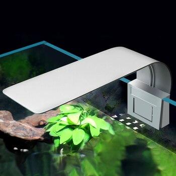 Аквариумный светодиодный светильник, супер тонкий, высокая яркость, растительный светильник, 5 Вт, 10 Вт, водная растительная лампа, водонепроницаемый зажим для аквариума