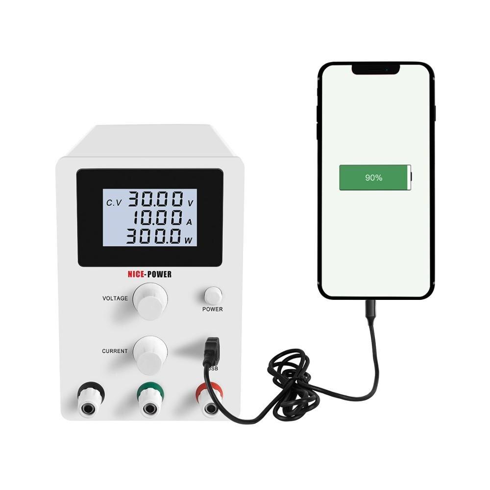 Image 2 - Mini fonte de alimentação dc 30 v 10a ajustável 60 v 5a usb  regulador tensão de comutação digital estabilizadores reparo do portátil  fonte retrabalhoFonte de alimentação de comutação