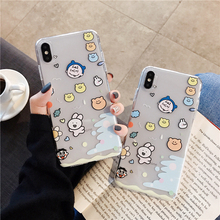 New cute avatar cartoon phone case for iPhone 11 11Pro Max XS X XR 6 6S 7 8 Plus transparent TPU back cover