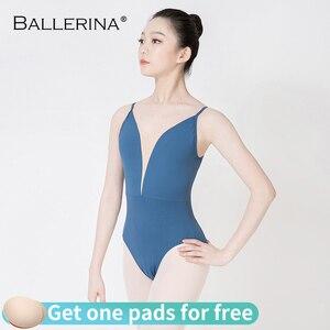 Image 4 - Ballerina ballet practice leotard for Women Dance Costume girls Sling gymnastics Adulto Adjustable shoulder strap Leotards 5085