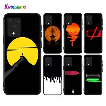 Battery Life Cycle Fashion Style For Samsung Galaxy A71 A51 (5G) A41 A31 2020 A21S A11 A90 A70S A50S A30S A10S Black Phone Case image