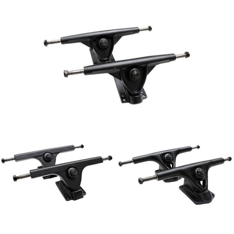 7 дюймов черный скейтборд Longboard грузовиков сплава держатели кронштейны спортивные высокого качества
