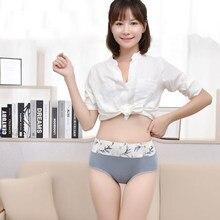 Slips femmes confortable coton sans couture Abdomen taille haute sous-vêtements dame Sexy Ultra-mince culotte