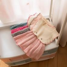 Свитер для маленьких девочек; хлопковый Трикотажный жилет в Корейском стиле; универсальная детская одежда; осенняя одежда для младенцев; стиль г