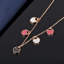 High-quality SWA Classic Graduation Heart-shaped SWA Original Pendant Necklace classic heart pendant