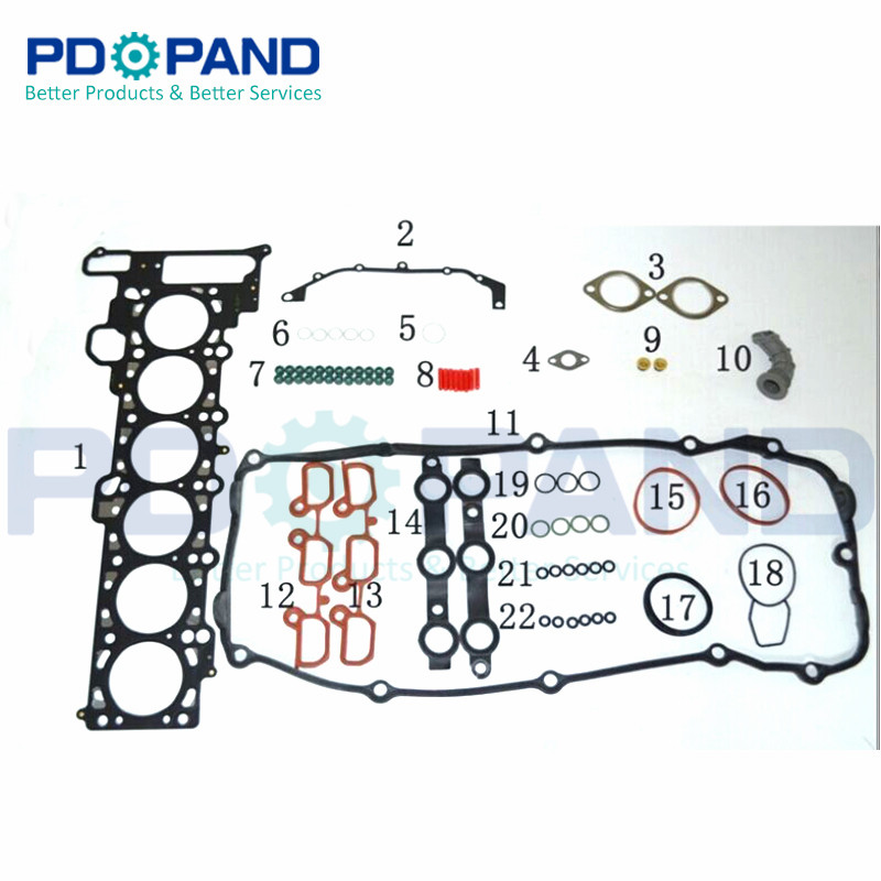 Top Quality Engine Overhaul Rebuilding Gasket Kit Upper and Lower For BMW M54B22