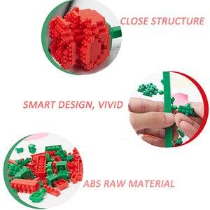 Image 2 - Saint valentin présent Sexy rose mini blocs de construction plein damour cour cadeau danniversaire épissure brique assemblage jouet cristal