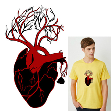 Heat Transfer PVC Patch Punk Heart Iron-On For Clothing DIY Skull Faction Thermal Vinyl Iron Stickers