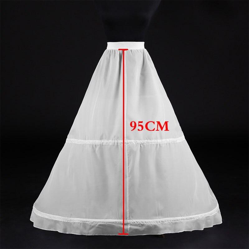 Hot Sale 2 Hoops Ball Gowns Puffy Wedding Petticoat Marriage Gauze Skirt Crinoline Underskirt Wedding Accessories