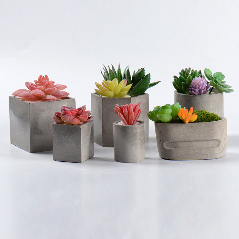 DIY Silicone Concrete Molds Handmade Cement Planter Mould Craft Resin Clay Tools