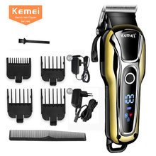 100% оригинальная машинка для стрижки волос kemei профессиональный