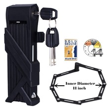 Bicycle-Lock Road-Bike Compact Folding Safety-Foldylock Heavy-Duty Security Anti-Theft