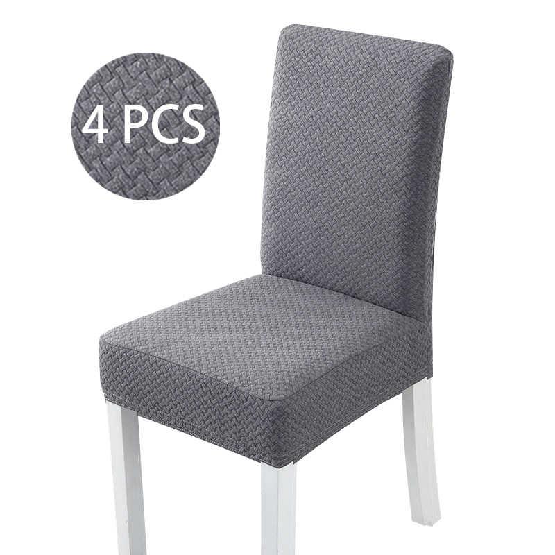 4 adet S/M/LSolid renk kalın pamuk yün kumaş sandalye kılıfı klozet kapağı için yemek odası düğün ofis ziyafet sandalye Slipcovers