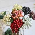 35 шт мини-пена Berry Спайк искусственные тычинки цветов красный, белый ягод вишни в форме искусственных цветов для Новогоднее украшение для св...