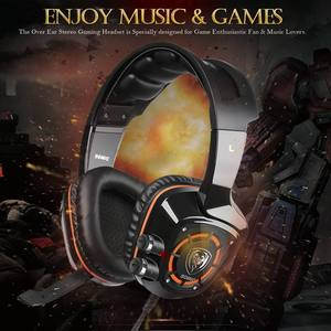 Image 2 - SOMiC G910 USB 7.1 Surround Sound Gaming Headset with Mic LED light Smart Vibration Over ear PC Headphone for PS4