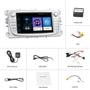 """Image 5 - Hikity 2 din Car Radio 7"""" Android 8.1 Car Multimedia Player GPS WIFI  Autoradio IOS Android Mirrorlink for Ford Focus Car Stereo"""