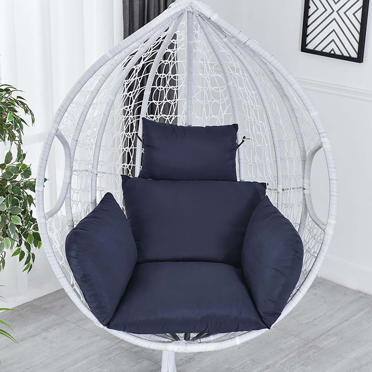 Висячий гамак, кресло, качающийся сад, на открытом воздухе, мягкое сиденье, подушка, сиденье, 220 кг, для спальни, подвесное кресло, спинка с под...