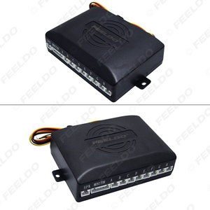 Image 4 - FEELDO Sistema de Radar de estacionamiento para coche, 8 sensores, 2 uds., cámara CCD de 18,5mm, visión trasera Dual, vídeo