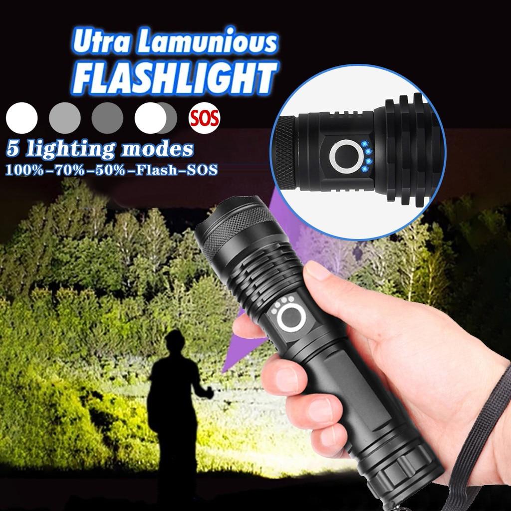 Super Powerful LED Flashlight L2 XHP50 Tactical Torch USB Rechargeable Linterna Waterproof Lamp Ultra Bright Lantern Camping 30