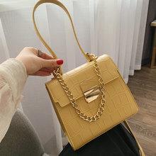 Retro Stone Pattern Women Handbags Fashion Solid Color Pu  Crossbody Bag Women Chains Handbag Flap Ladies Shoulder Messenger Bag стоимость