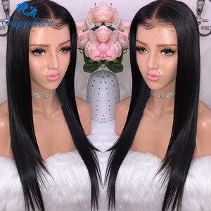 Image 1 - ספיר 13*4 תחרה פרונטאלית שיער טבעי פאות ברזילאי ישר תחרה פרונטאלית פאה מראש קטף תינוק שיער קצר שיער טבעי תחרה פאות
