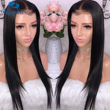 Sapphire 13*4 Lace Frontal Human Hair Wigs Brazilian Straight Lace Frontal Wig Pre Plucked Baby Hair Short Human Hair Lace Wigs