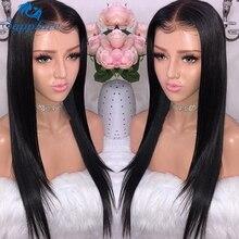 Sapphire 13*4 koronki przodu peruki z ludzkich włosów brazylijski prosto koronki przodu peruka wstępnie oskubane włosy dla dzieci krótkie peruki z ludzkich włosów