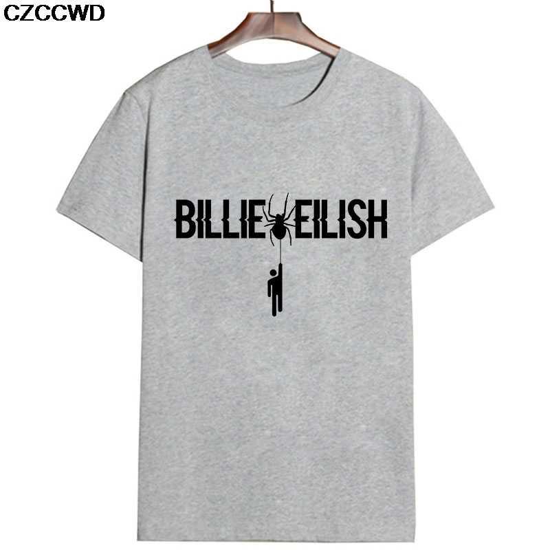 2019 夏新女性トップオル原宿美的ファッションヴィンテージビリー Eilish レタープリント韓国スタイルストリート Tシャツ
