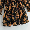 Klkxmyt Za Dress Women 2020 Chic Fashion Floral Print Mini Dress Vintage Long Sleeve Elastic Waist Female Dresses Vestidos Mujer 5