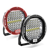 2pcs 7 Inch 300W Round LED Work Light Spot Beam Black Red Offroad Driving Light For Jeep ATV 4x4 Truck Tractor Boat Wrangler