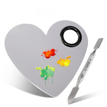 Tray Paint-Palette Watercolor Oil-Painting Spatula-Set Mixing-Rod Stainless-Steel