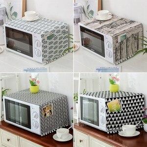 Cobertura de forno de microondas com borla à prova de poeira cobertura de forno de microondas toalha de proteção de forno elétrico acessórios de cozinha