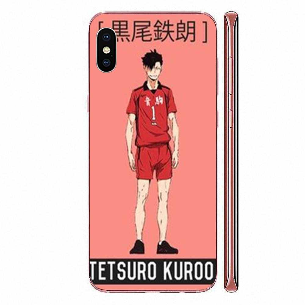 Cho Iphone 11 Pro X XS Max XR 4 4S 5 5C 5 5S SE SE2 6 6S 7 8 Plus TPU Mềm Điện Thoại Bóng Chuyền Anime Haikyuu Nekoma Jersey