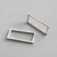 Fashion Korean 925 Sterling Silver Geometric Rectangular Earrings Women Ear Clips Christmas Gift Wedding Fine Jewelry New