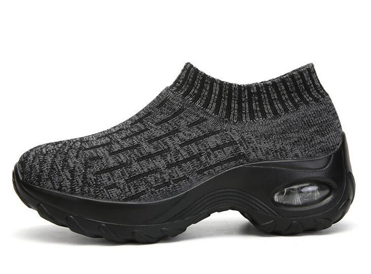 Zapatillas de otoño calcetines Zapatos de madre zapatos de punto de gran tamaño de las mujeres de fondo grueso de moda calcetines Zapatos de diseñador casual - 3