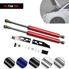 Per Fiat 500 2007-2020 cofano cofano anteriore modifica ammortizzatori a Gas in fibra di carbonio supporto di sollevamento ammortizzatore accessori ammortizzatore