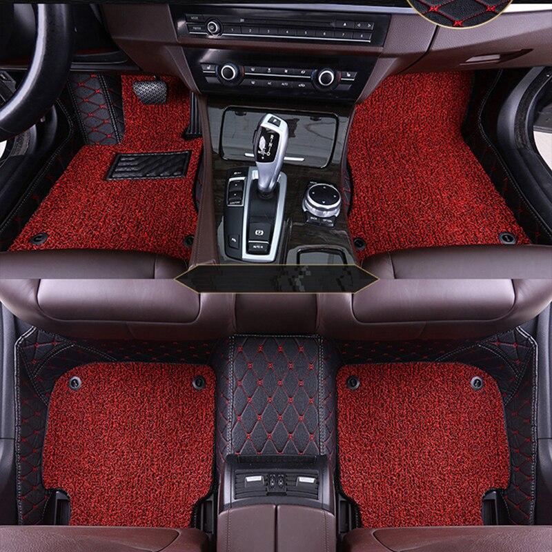 Tapis de sol de voiture personnalisé 2 couches pour Tesla modèle 3 modèle S modèle X accessoires de style de voiture