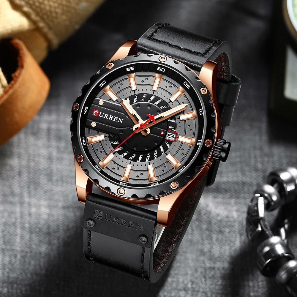 H190b7bd1d85846d6ac7152bf8628209cK CURREN Watch Wristwatch  New Chic Luminous hands