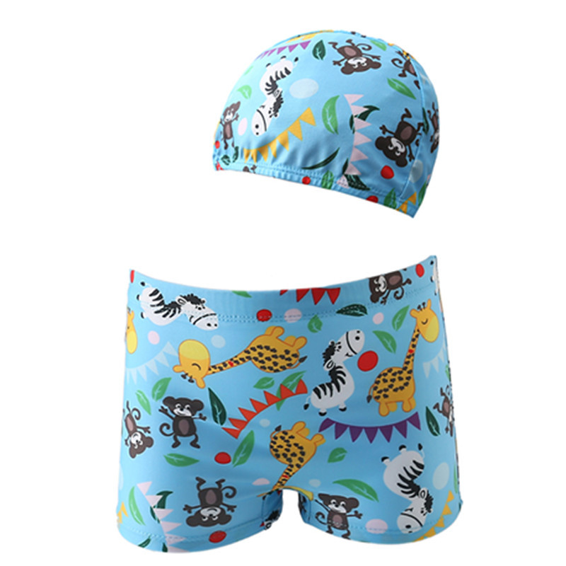 Children Baby Swimming Trunks BOY'S Boxer Yi Bo Du Large Children Hot Springs Swimming Pool Bathing Suit Cap-BABY'S Swimming Tru