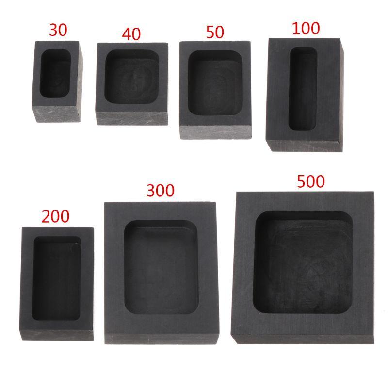 Graphite Ingot Bar Mold Mould Crucible For Melting Resistance Graphite Melting Crucible Gold Silver Casting Refining Acids