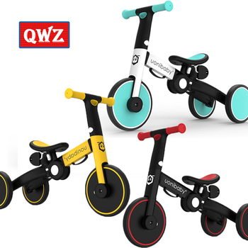 цена на 5-in-1 Children Bicycle Tricycle Trolley Lightweight Bike Foldable Baby Balance Stroller Scooter Kids Walker for 1-6 Years Old
