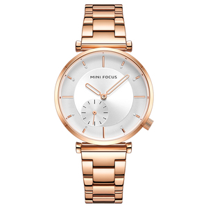 Image 5 - MINI FOCUS Women Watches Brand Luxury Fashion Ladies Watch 30M Waterproof Reloj Mujer Relogio Feminino Rose Gold Stainless Steel